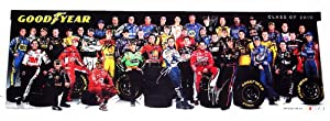 *32X AUTOGRAPHEDGoodyear Racing (Class of 2010) NASCAR Driver Group Photo 11X33... by Trackside+Autographs
