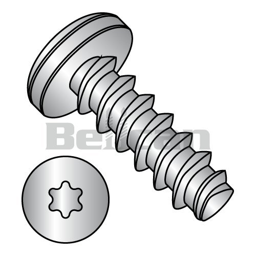Hex Washer Head 1//2 Length 18-8 Stainless Steel Thread Rolling Screw for Metal Passivated Finish Pack of 25 #10-32 Thread Size Slotted Drive