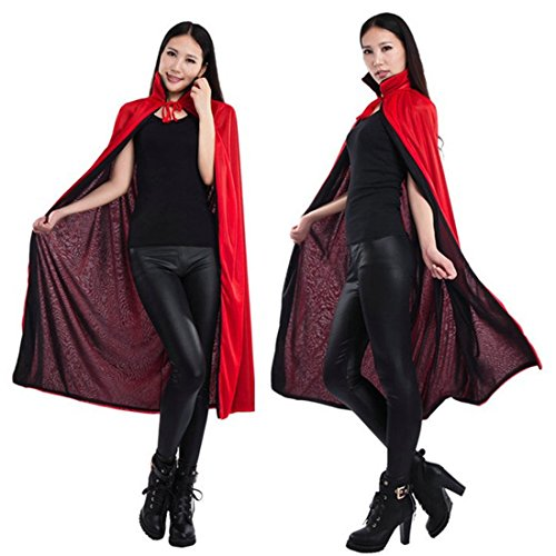 Geben Women's Stand Collar Double Layers Witch Overcoatthe Glamour Witch Cloak Costume