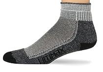 Wigwam Men's Cool-Lite Hiker Pro Quarter Length Socks, Black, Large