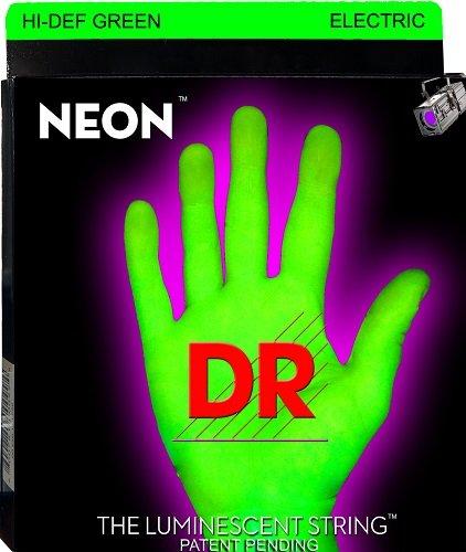 DR Strings NEON Hi-Def Green SuperStrings Light Top Heavy Bo