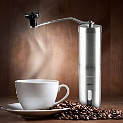 Uyikoo Manual Slim Coffee Grinder And Conical Ceramic Burr Spice Mill,Coffee Grinder, Precise Stainless Steel, Aeropress Compatible, Consistent Grind For Perfect Fresh Coffee