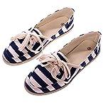 Blue Striped Shoe: Size 7