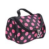 Mudder Women Cosmetic Bag Make-up Bag Toiletry Bag with Dot Pattern