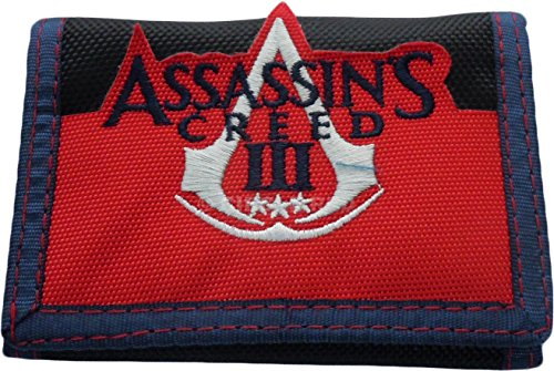 Assassins Creed Logo Black Velcro Wallet