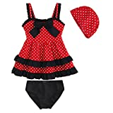 Kid Toddler Baby Girls Bathing Suit Lace Bow Dot Two Piece Swimsuit Swimwear 3
