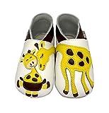 Lait et miel de piel con forma de zapatos del Caminante beb� con dise�o de zapatos para beb� papel ign�fugo con diferentes dise�os blanco jirafa Talla:0-6 meses