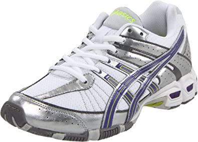 ASICS Women's GEL-Antares Cross-Training Shoe,White/Silver/Ultra Marine,10 M US