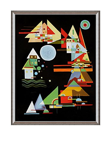 Wassily Kandinsky Spitzen In Bogen (Points In The Elbow) Framed Hand-Painted Reproduction