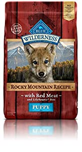 Blue Buffalo Wilderness Puppy Rocky Mtn Recipes Red Meat-Grain Free 22 lb