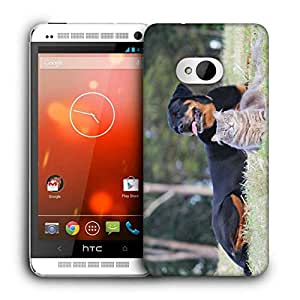 Snoogg Dag And Cat Printed Protective Phone Back Case Cover For HTC One M7