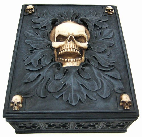 Creepy Gothic Skull Jewelry / Trinket Box Valet