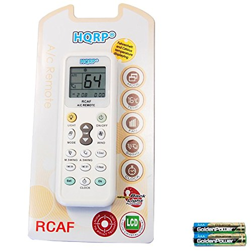 HQRP Universal Remote Control Compatible with Daikin BRC7C812 FXFQ FCQ BRC7E83 FXHQ FHQ Air Conditioner + HQRP Coaster
