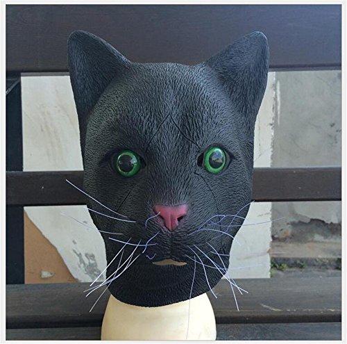 Skue Deluxe Novelty Latex Cat Mask Halloween Costume Prop (Giraffe Deluxe Latex Mask)
