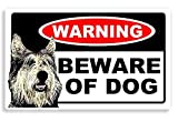 Berger Picard Dog - Beware Sticker - Maison / Voiture Autocollant / Home Door / Car Sign...