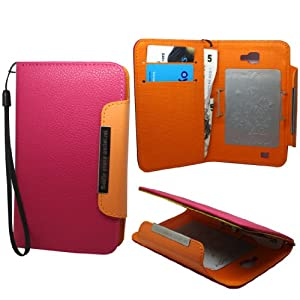 Phonedirectonline - Pink Book Style (Faux) Leather Case Cover Pouch For samsung galaxy note i9220
