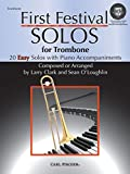 img - for WF124 - First Festival Solos for Trombone (with Piano Accompaniments) BK/CD book / textbook / text book