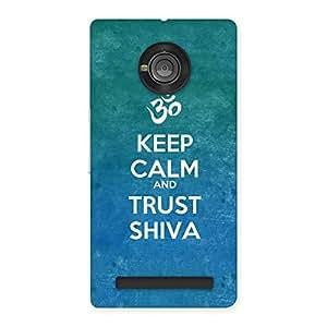 Cute Trust Shiva Back Case Cover for Yu Yunique