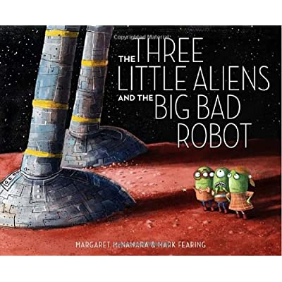 GREEP BOINK MEEP! The three little aliens are happily settling into their new homes when the Big Bad Robot flies in to crack and smack and whack their houses down! A chase across the solar system follows in this out-of-this-world version of the class...