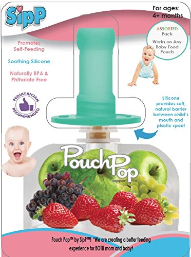 PouchPop Topper 4 Count for Pouch Feeding, 4 Months Plus
