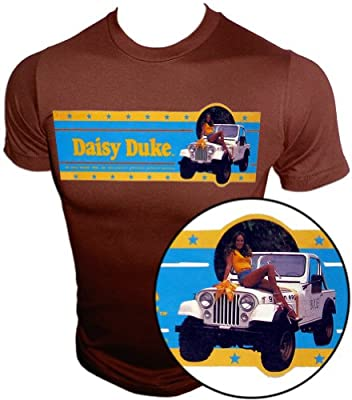 """Vintage Daisy Duke The Dukes of Hazzard """"Dixie"""" Jeep CJ7 t-shirt"""
