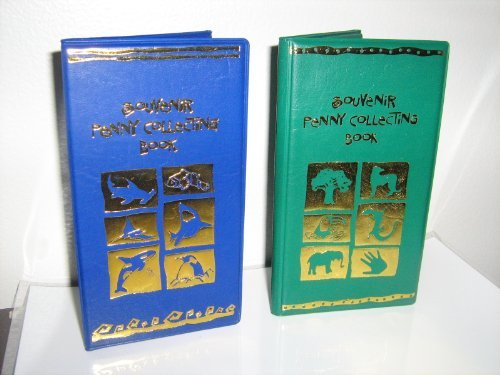 One Green/One Blue Elongated Souvenir Penny Collecting Book With 2 FREE PRESSED PENNIES! by RINCO (Disney Pressed Penny Book compare prices)