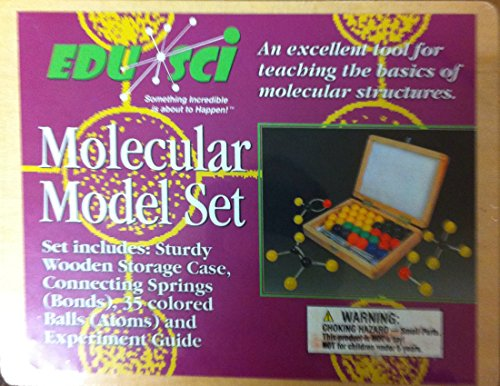 Molecular Model Set Set Includes: Sturdy Wooden Storage Case, Connecting Springs(Bonds), 35 Colored Balls (Atoms) And Experiment Guide front-138380