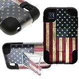 CoverON® Kickstand Hard + Soft Dual Layer Hybrid Case for LG Optimus Dynamic II 2 L39C - American Flag Design... by CoverON
