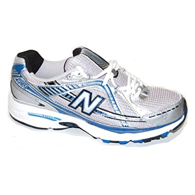 New Balance Men's Mr520 Fitness Cushioning Running Shoe,Silver/Blue,9.5 4E