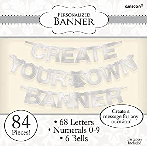 Amscan 84 Piece Create Your Own Banner Letter, Silver from Amscan