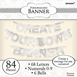 Amscan 84 Piece Create Your Own Banner Letter, Silver