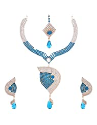 Nimble Multi Colour Metal Choker Necklace Set For Women