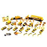 44pc 1:64 Scale Road Construction Building Team Diecast Toy Set Pretend Play