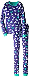 Hatley Little Girls' Bunnies Pajama Set
