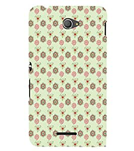 iFasho Animated Pattern design many small flowers Back Case Cover for Sony Xperia E4 Dual