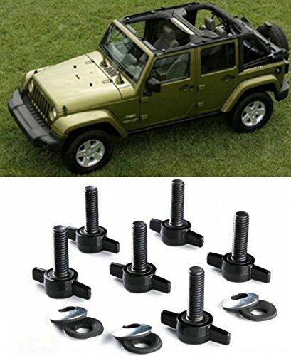 opall-hard-top-quick-removal-change-kit-set-of-6-tee-knobs-for-jeep-wrangler-jk-jku-sport-sahara-rub