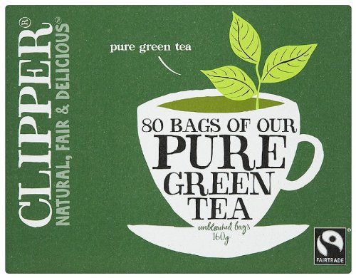 Clipper Pure Green 80 Teabags (Pack of 3, Total 240 Teabags)