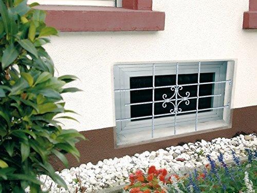 GAH-Alberts Fenstergitter Euro von GAH Alberts H: 69 cm x B: 114 cm (individuell kürzbar)