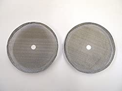 French Press Coffee Maker Universal 4,6, or 8 Cup Filter Screen (2 Pack) Replaces Bent and Worn French Press Mesh Screens by Shop Smart LLC
