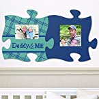 2-Piece Daddy and Baby Boy Puzzle Piece Photo Frame Set