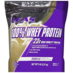 EAS 100% Whey Protein Vanilla - 5lb - CASE PACK OF 4
