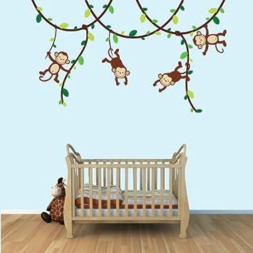 Unique Baby Nursery Kid Room Wall Decals Monkey Owl Tree etc designs