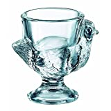 BHL Glass Hen Egg Cup Clear Set of 3