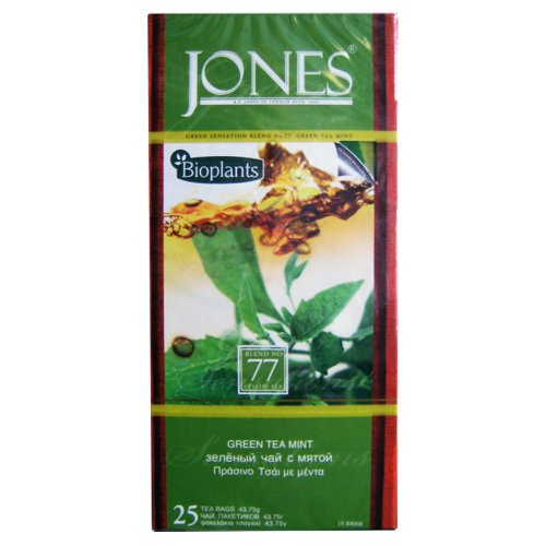 Bioplants Jones Mint Green Tea (Pack of 1, Total 25 Teabags)