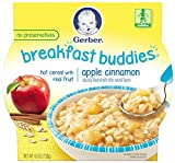 Gerber Breakfast Buddies Hot Cereal with Real Fruit Apple Cinnamon 4.5 oz. 1 Pack.