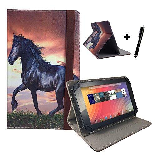 Blaupunkt-Discovery-720-Multimedia-Tablet-1778-cm-70-Tablet-Pc-Tasche-mit-Standfunktion-Touch-Pen-7-Zoll-Pferd-Motiv