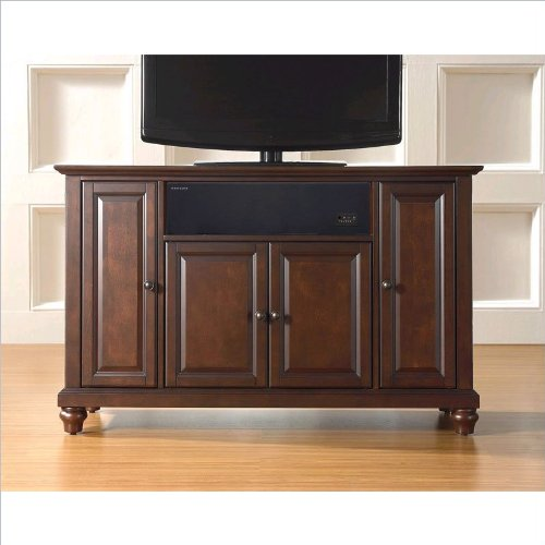 Crosley Furniture Cambridge 48-Inch AroundSound TV Stand, Vintage Mahogany