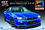 1/24プリペイントモデルシリーズNo.31R34 スカイライン GT-R V-SpecII ( ベイサイド ブルー)