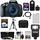 Canon EOS Rebel T5i Digital SLR Camera & EF-S 18-135mm IS STM Lens with 64GB Card + Battery + Case + Flash + 3 Filters + Tripod + Accessory Kit