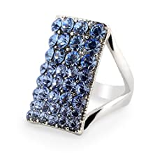 buy Yoursfs Unique 18K Gold Plated Jewelry Use Square Crystal Bridal Wedding Ring (8)